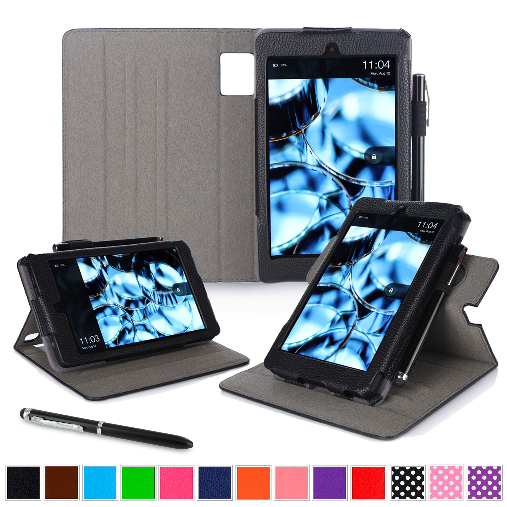 Fire HD 6 Tablet (2014) Case, roocase new Fire HD 6 Dual View Folio Case with Sleep / Wake Smart Cover with Multi-Viewing Stand for All-New Fire HD 6 Tablet (2014)