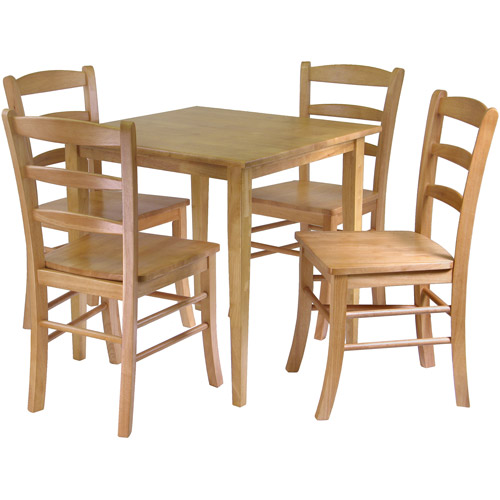 Groveland 5-Piece Dining Set, Light Oak