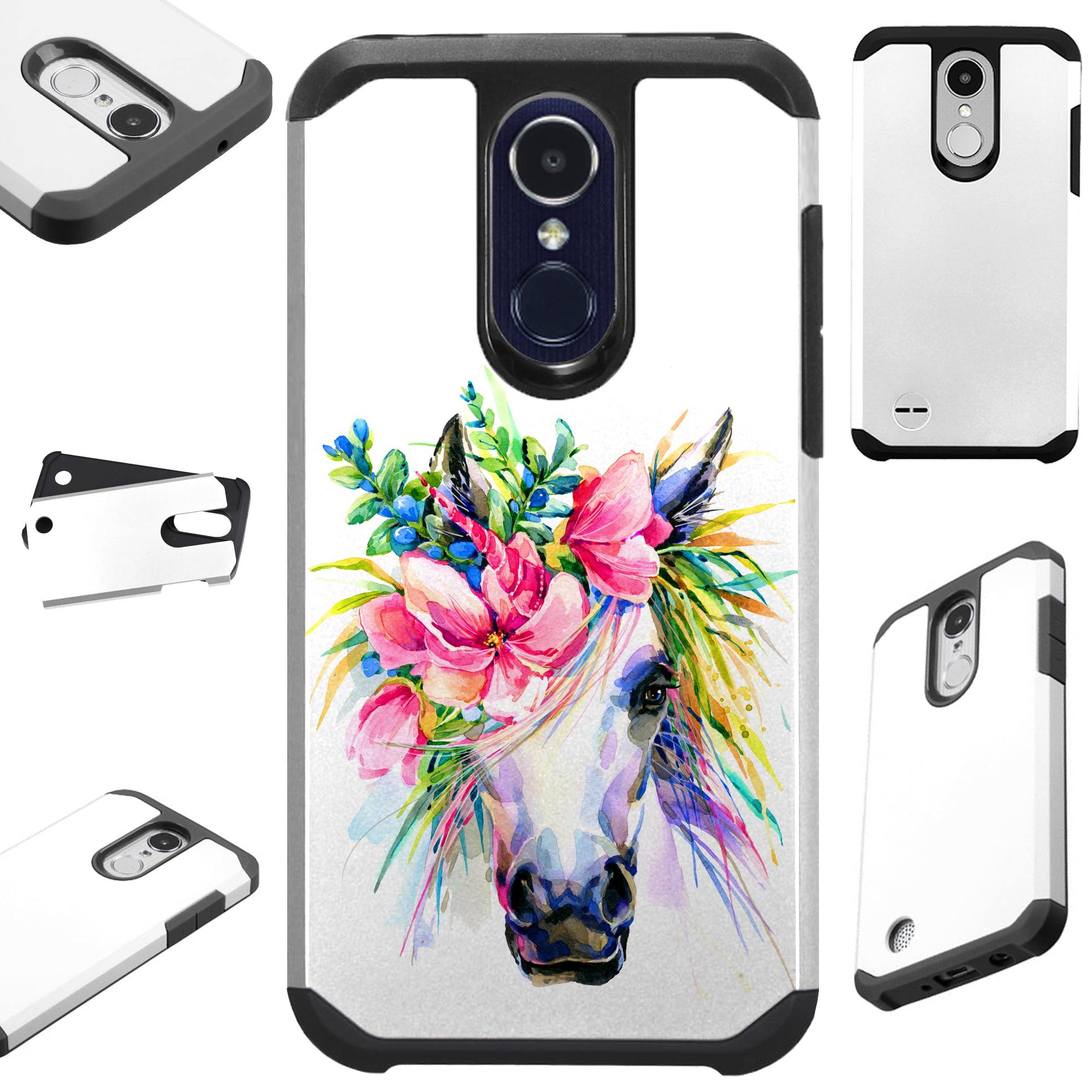 FusionGuard Phone Case Cover For LG K30 X410 | K10 (2018) | K10 Plus | K10 Alpha (Unicorn Flower)