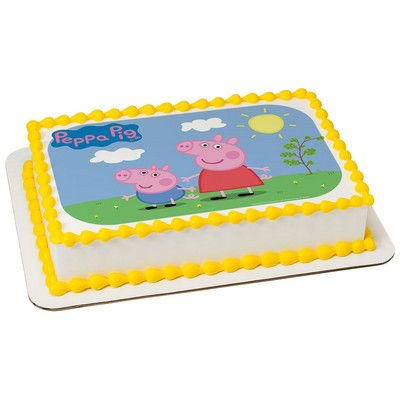 Peppa Pig 1 4 Quarter Sheet Edible Photo Image Cake