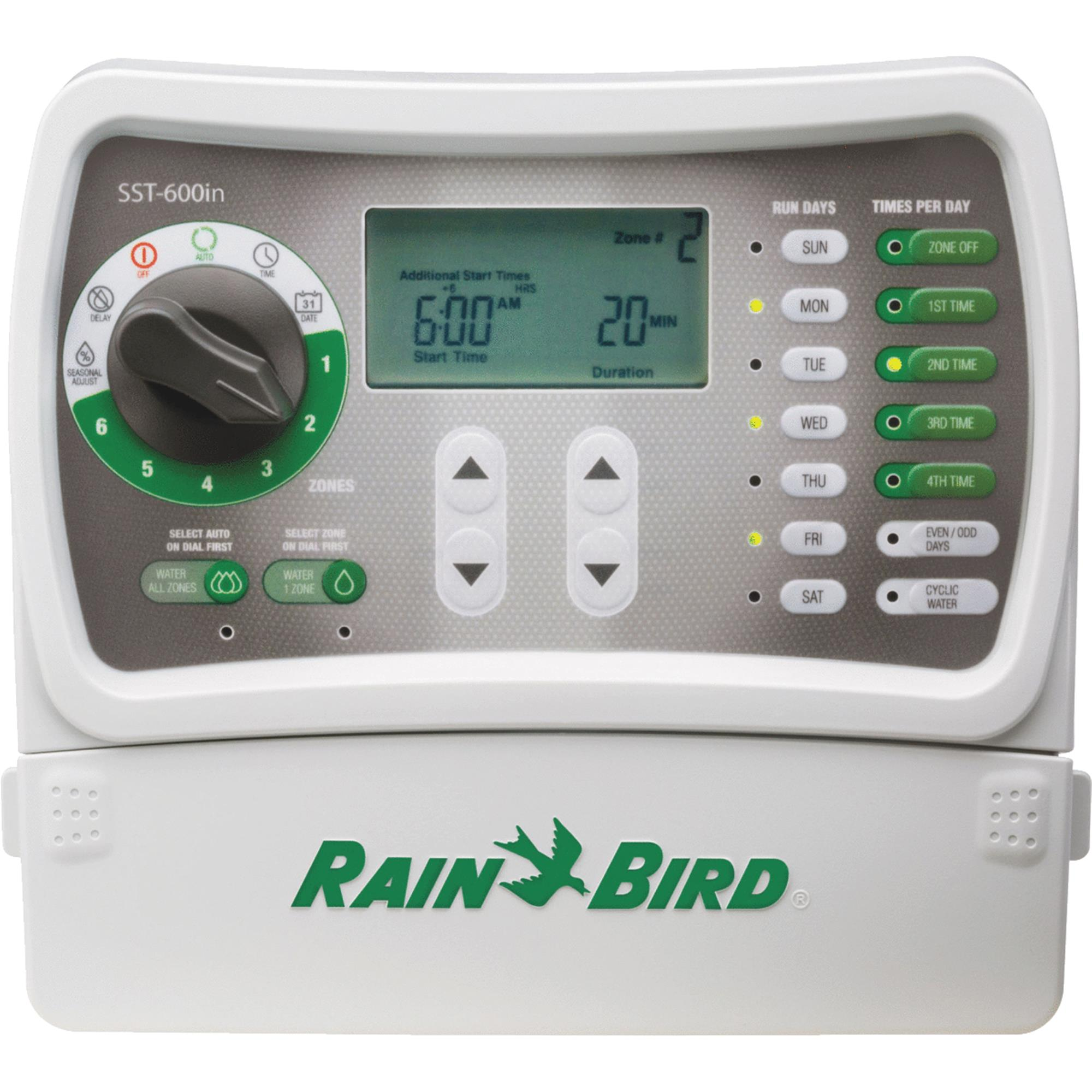 Rainbird SST-600I 6 Valve indoor Mounting Simple To Set Timer