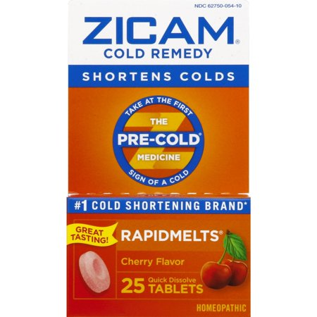 Zicam Cold Remedy Rapidmelts, Cherry Flavor, 25 Quick-Dissolve