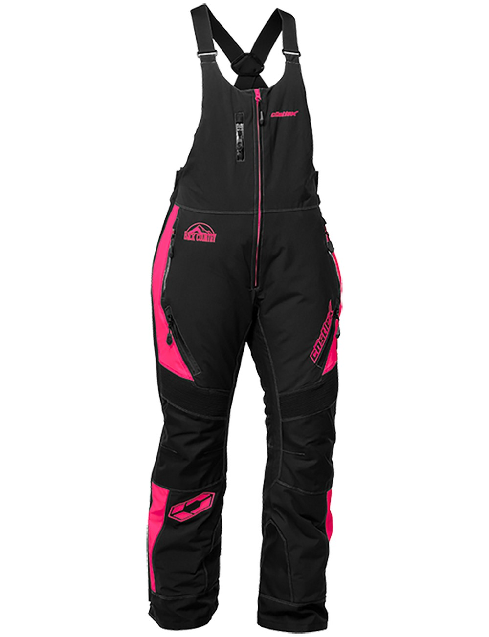 Castle X Racewear Tundra Womens Snow Bibs Hot Pink by