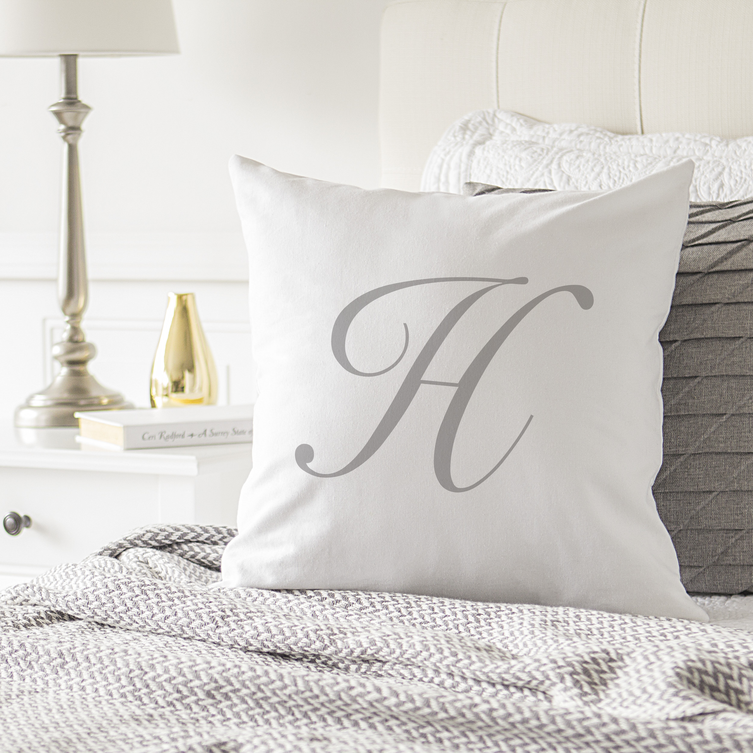 """Personalized Script Initial 16"""" Pillow"""
