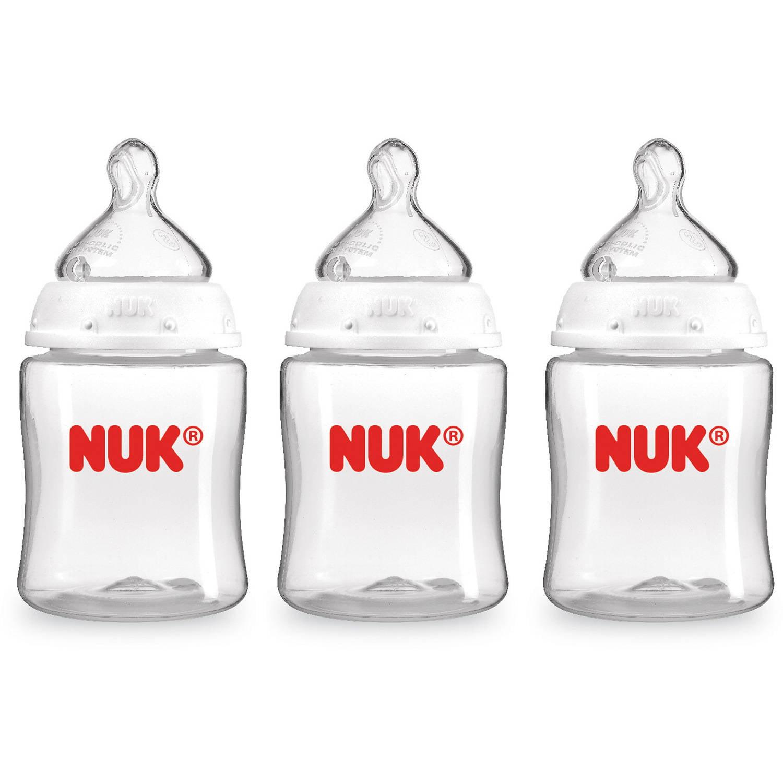 Nuk Clear Bottles 5 oz, 3-Pack (2017)