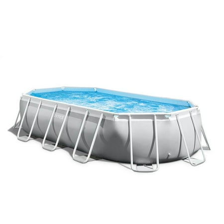 Intex 16.5ft x 9ft 48in Prism Frame Oval Above Ground Swimming Pool Pump Set 15x25 Oval Pool