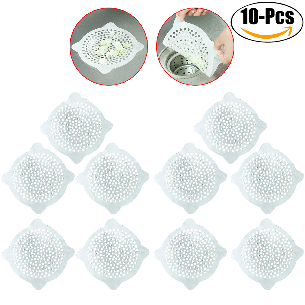 Justdolife 10PCS 5.91'' Sink Strainers Disposable Practical Drain Strainers Hair Catchers for Bathroom Kitchen