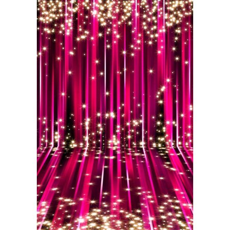 GreenDecor Polyester Fabric Photo Backdrop Thanksgiving 5x7ft Gold Glitter Photo Background Red for Holiday Photos Backgrounds for Wedding Photography (Thanksgiving Backdrop)