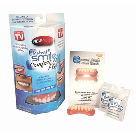 Instant Smile Comfort Fit Flex Teeth Veneer Uppers and Lowers w\ 2 extra (Billy Bob Teeth)