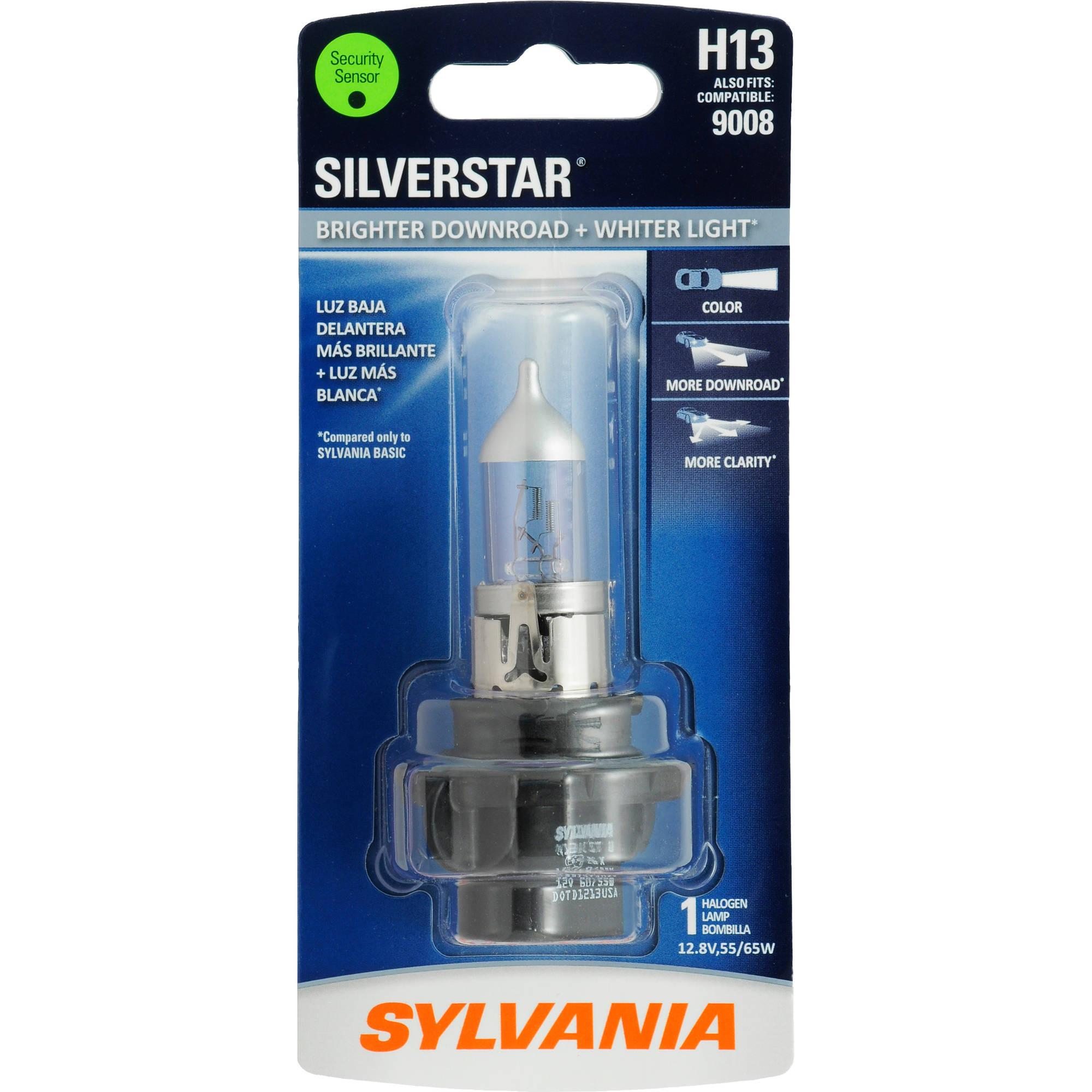 Sylvania H13 SilverStar Headlight, Contains 1 Bulb