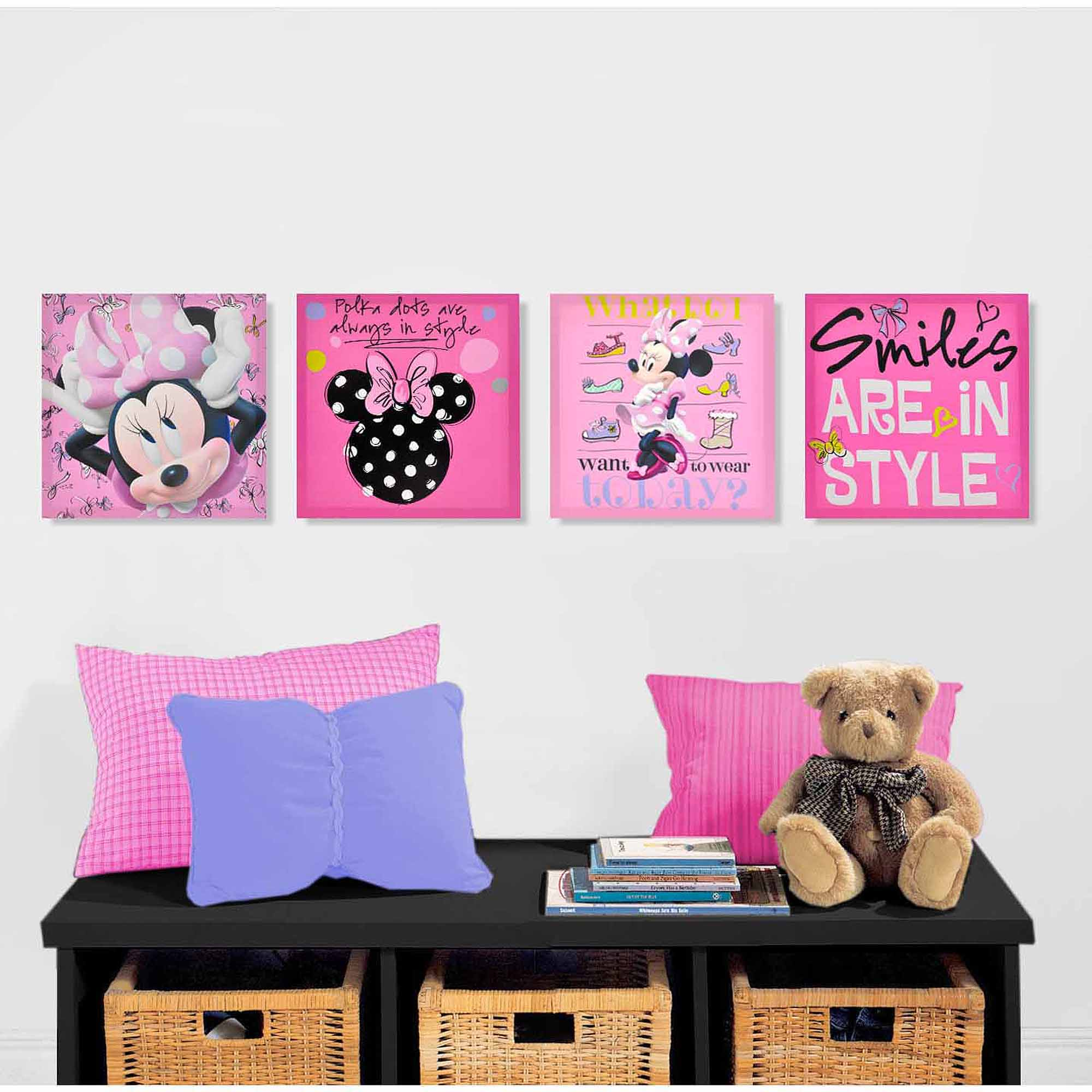 Disney Minnie Mouse 4-Pack Canvas Wall Art