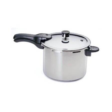 National Presto Ind 01362 Pressure Cooker With Rack/Recipe Book, Stainless Steel, 6-Qt.