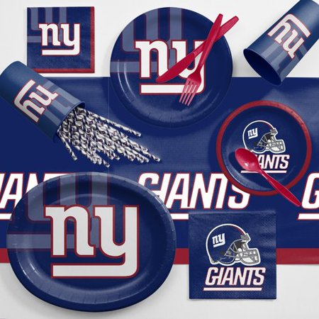 New York Giants Ultimate Fan Party Supplies (Giants Kit)