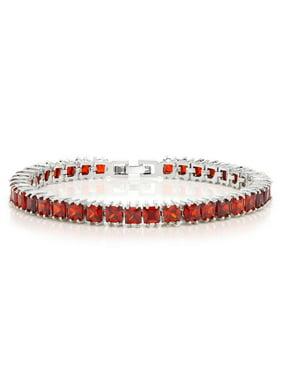 a85239882 Product Image 15.00 Ct Sparkling Princess Cut Cubic Zirconia CZ Tennis  Bracelet 7 Inch