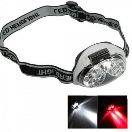 Angled Head - Yosoo 6 LED Adjustable Angle & Headband Strap Super Bright Headlamp 3 Mode 1200 Lm Waterproof