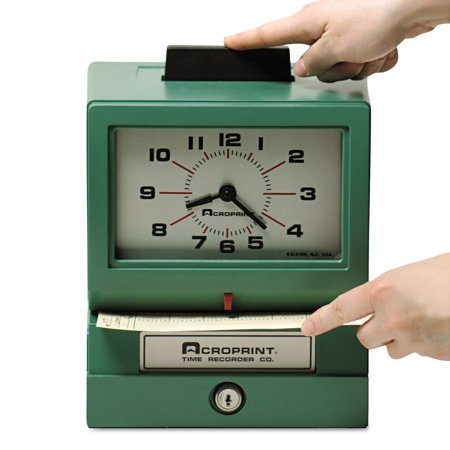 Acroprint Model 125 Analog Manual Print Time Clock with Date/0-12 Hours/Minutes -ACP011070400 Acroprint 175 Time Clock