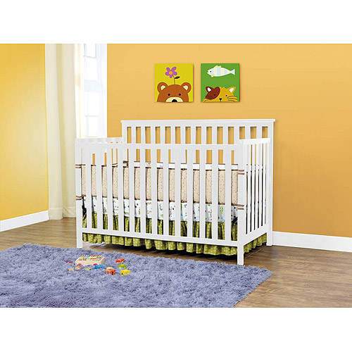 BSF Baby Sydney Lifetime 2-in-1 Fixed-Side Crib, White