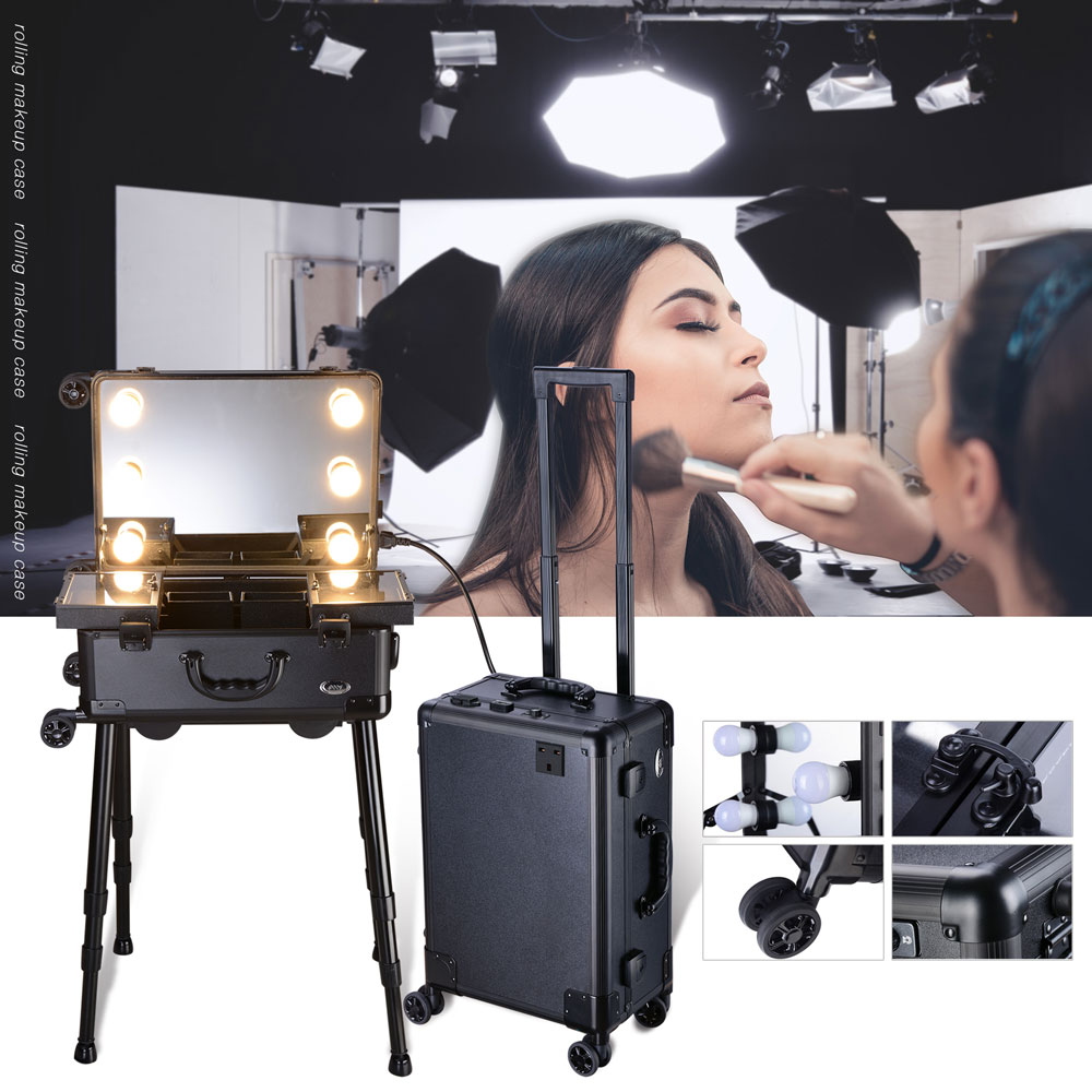 Aw Rolling Makeup Case With Led Light