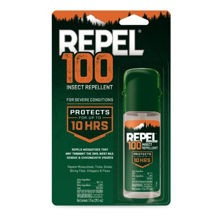 Repel 100 Insect Repellent 1 Ounce, With DEET, 10-Hour Protection