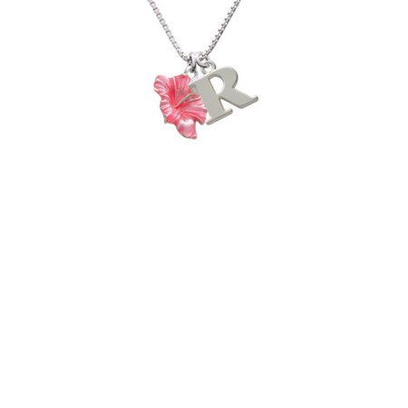 Delight Jewelry Silvertone Hot Pink Hibiscus Flower Capital