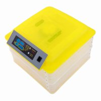 112-Egg Practical Fully Automatic Poultry Incubator Yellow & Transparent