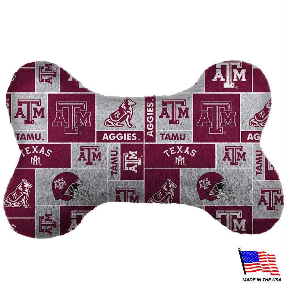 Texas A&M Aggies Plush Bone Toy - Small