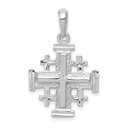14k white gold jerusalem cross pendant walmart 14k white gold jerusalem cross pendant aloadofball Images