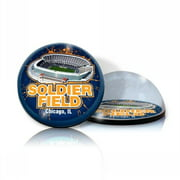 Paragon Innovations SoldierMAGSTADIUM Crystal magnet with Soldier Field image  giving a magnifying effect.-NFL