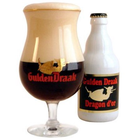 Gulden Draak Belgian Beer Chalice Glass, Limited Edition By Golden (Yellow Gold Beer)