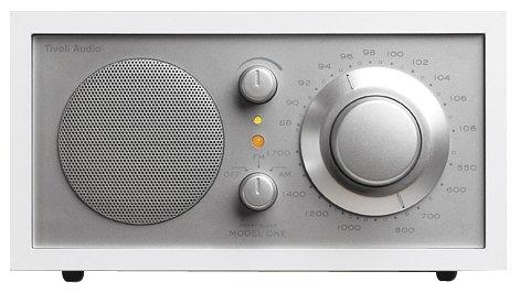 Tivoli Audio Model One AM_FM Table Radio, White_Silver by Tivoli