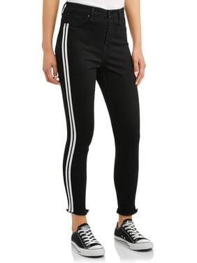 No Boundaries Juniors' striped skinny jeans