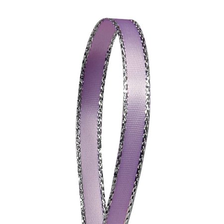 "Lavender Silver Edge Satin Ribbon 1/4"" X 50 Yards  by Paper Mart"