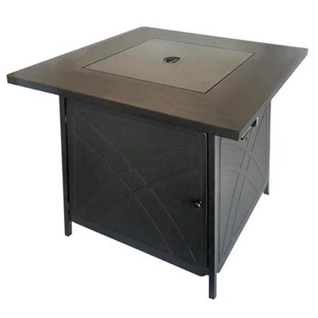 Shinerich Industrial SRGF11634 Gas Fire Pit, Steel, 28-In. Square - Quantity 1