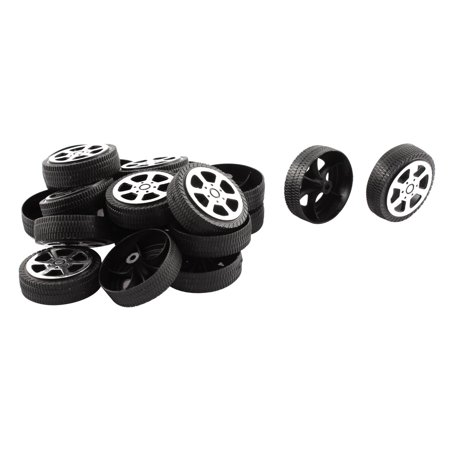 - Plastic Roll 2mm Dia Shaft Car Truck Model Toys Wheel 30mmx9mm 20Pcs