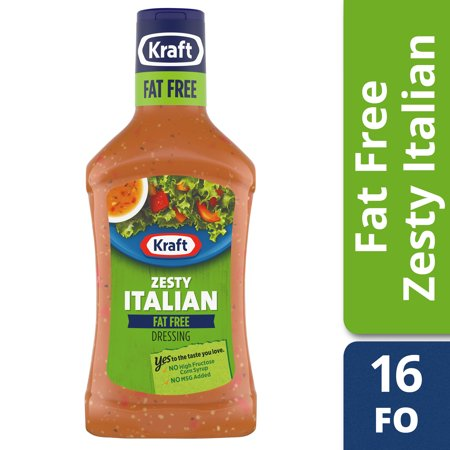 (3 Pack) Kraft Zesty Italian Fat-Free Dressing, 16 Fl Oz