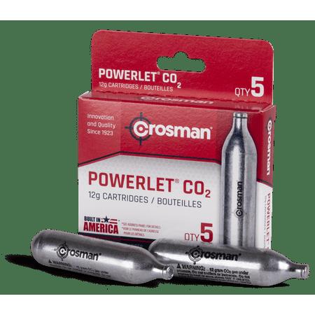 Crosman 12-Gram Powerlet CO2 Cartridges, 5ct, 231B