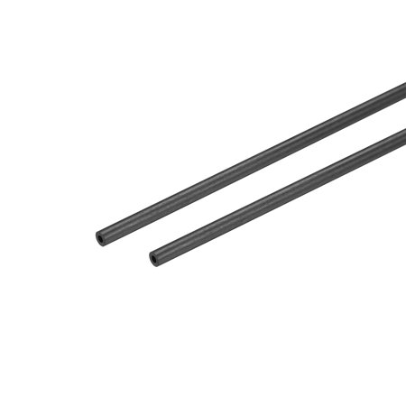 Carbon Fiber Round Tube 1.8mm x 1mm x 200mm Carbon Fiber Wing Pultrusion Tubing for RC Airplane 2 Pcs
