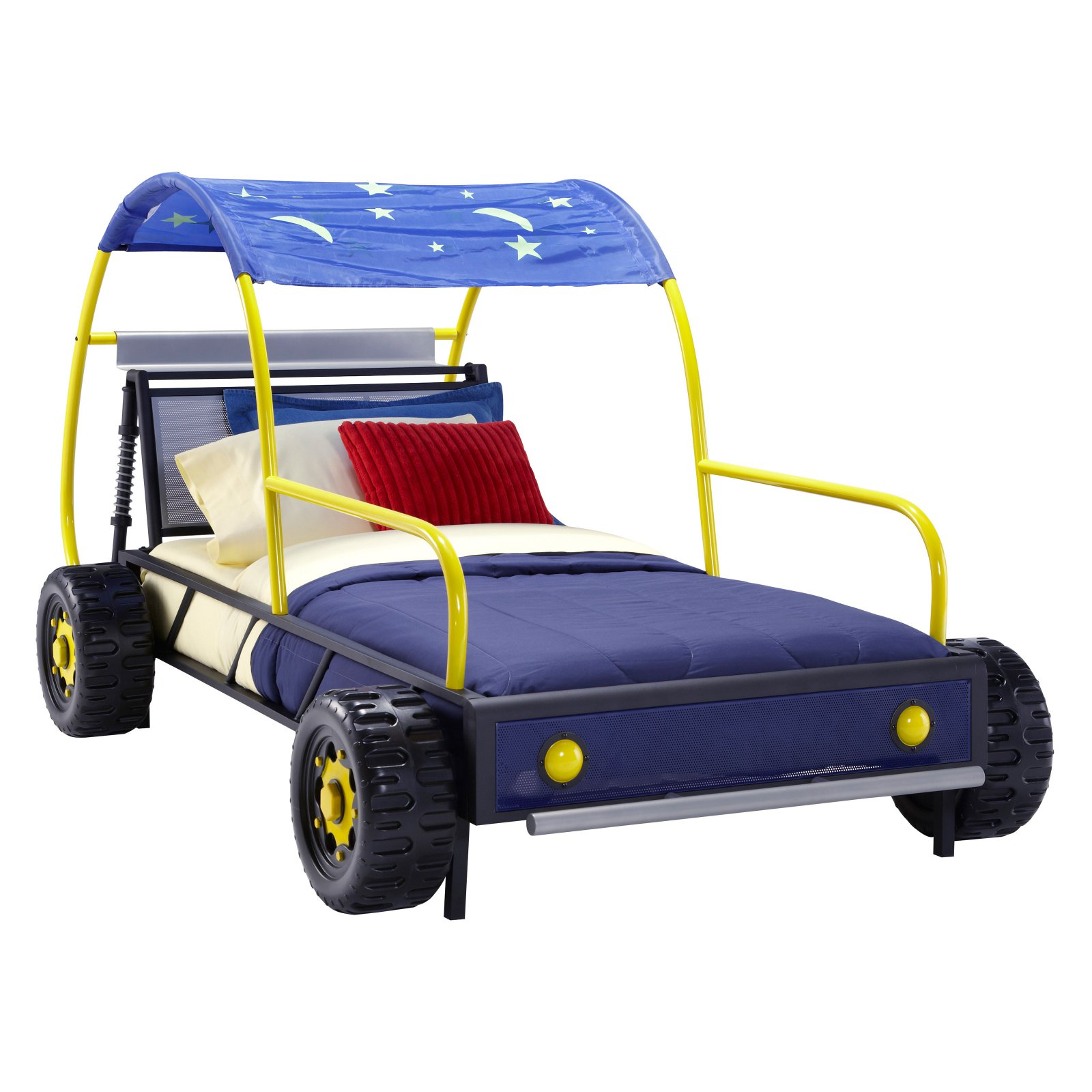 Powell Dune Buggy Car Twin Bed, Multi-Colors