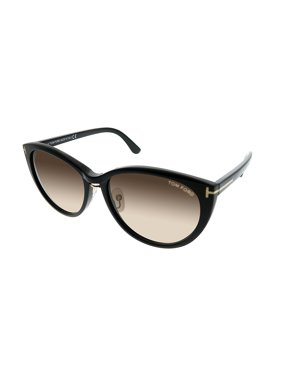 facbba0f978 Product Image Tom Ford Gina FT 0345 01B 57mm Women s Cat-Eye Sunglasses