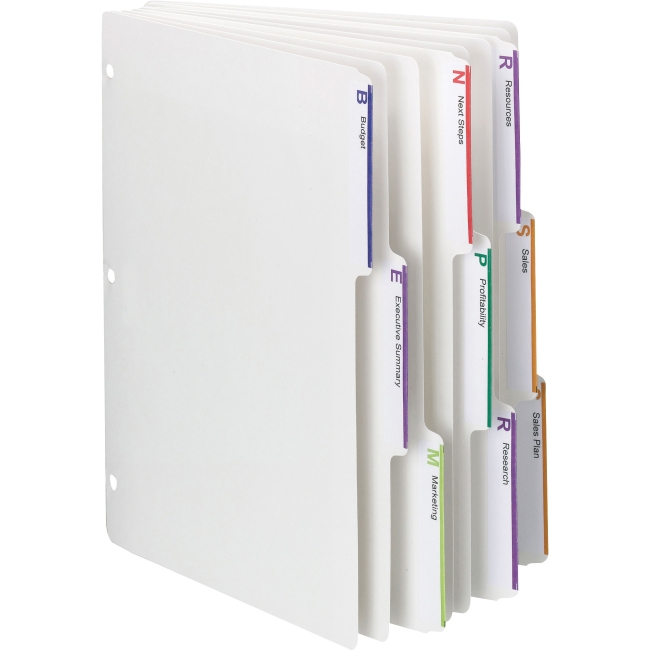 "Smead 3-ring Binder Index Dividers - Letter - 8 1/2"" Widt..."