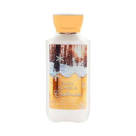 Bath & Body Works Snow Flakes & Cashmere 8.0 oz 24 Hr Moisture Body Lotion