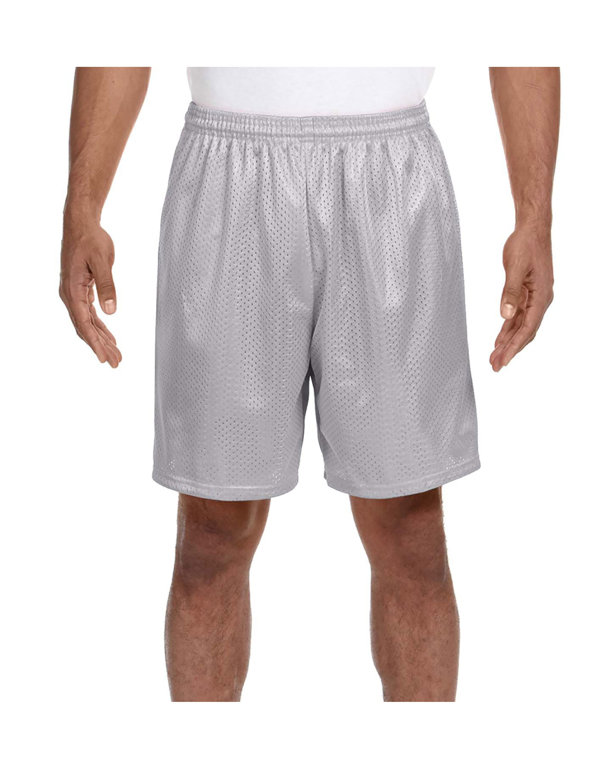 A4 Men's Comfort 7 inch Lined Tricot Mesh Wicking Short, Style N5293