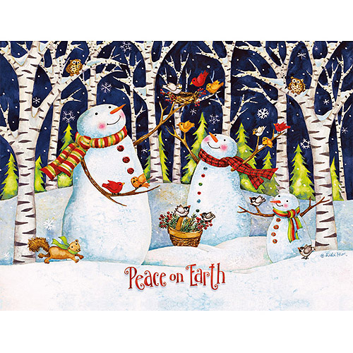 Lang Birch and Snowmen Boxed Christmas Cards