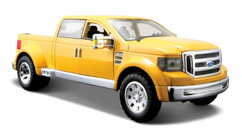 Ford Mighty F350 Super Duty Pick-up, Yellow Maisto 31213YL 1 31 Scale Diecast Model Toy... by Maisto