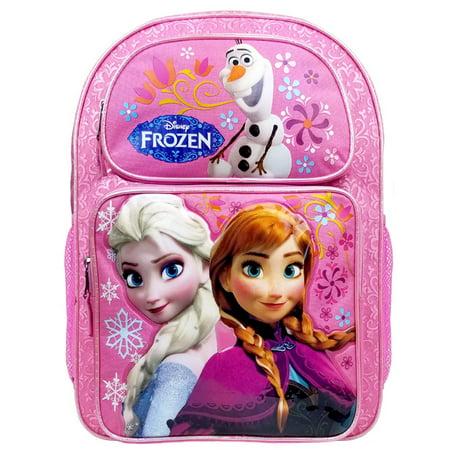 Disney Frozen Elsa & Anna Pink Girls Large Backpack/School Book Bag for Kids