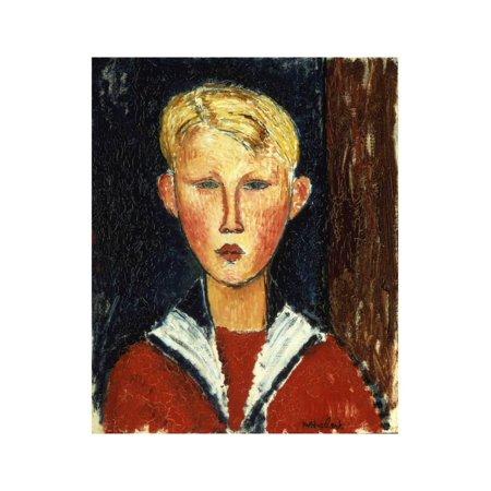 The Blue-Eyed Boy, 1916 Print Wall Art By Amedeo Modigliani