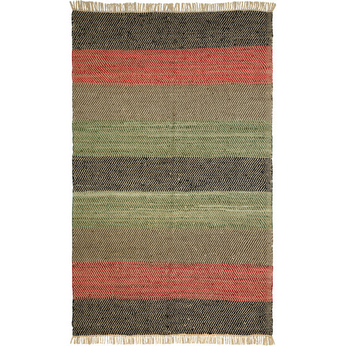 St. Croix Matador Striped Leather Chindi Rug