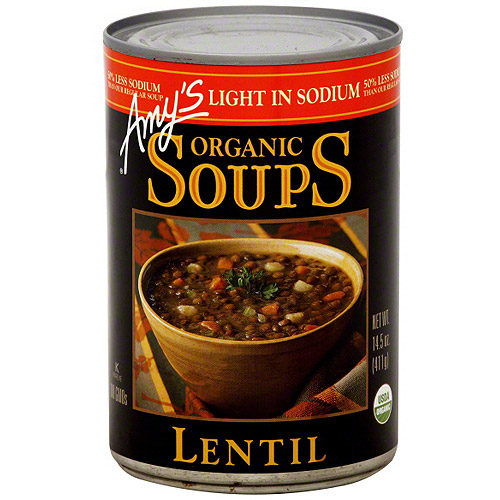 Amy's Light in Sodium Organic Lentil Soup, 14.5 oz (Pack of 12) by Amy's Kitchen
