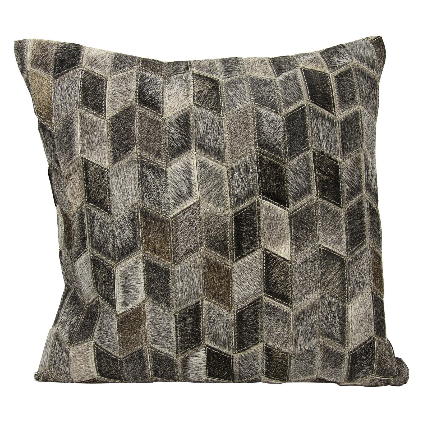 Nourison Arrowhead Chevron Dark Grey Throw Pillow