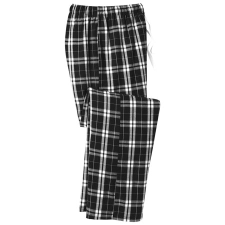- District Men's Flannel Plaid Elastic Waistband Pant